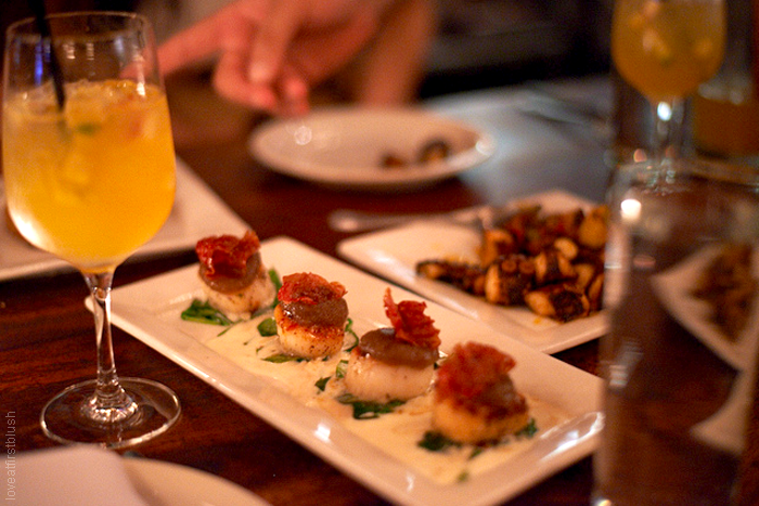 Scallop Tapas at Spanish restaurant, Pipa NYC