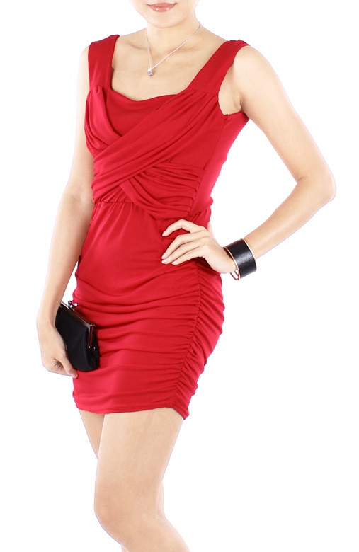 Ritzy Ruched Bodycon Party Dress