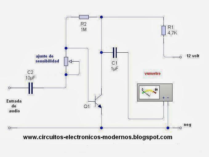 Circuito Vumetro : Circuitos electronicos modernos circuito vúmetro analógico