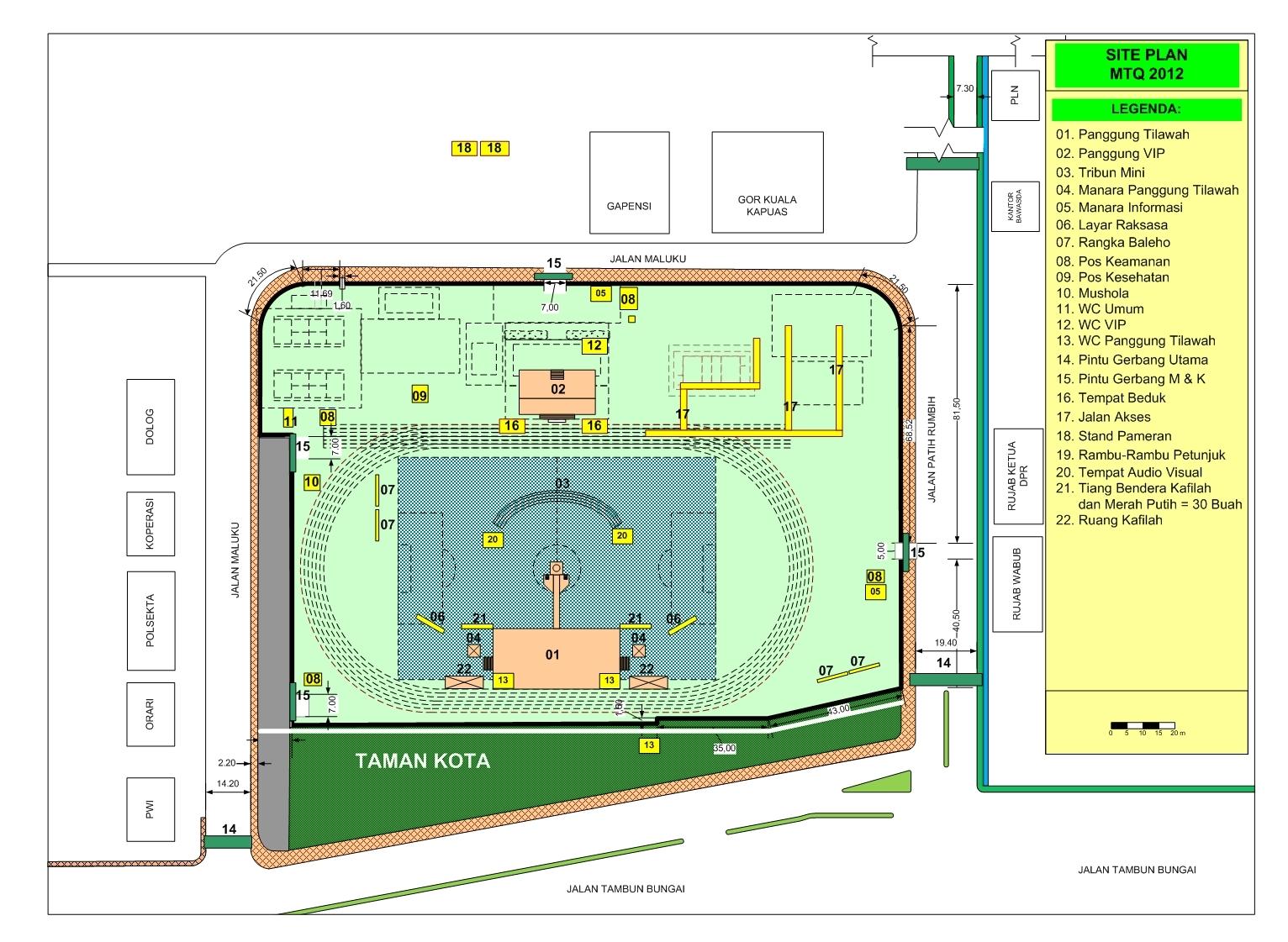 INFORMASI KAPUAS: Site Plan MTQ Kalteng 2012