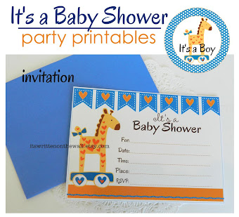 (Boy) It's The Little Touches that Make Your Baby Shower Fabulous