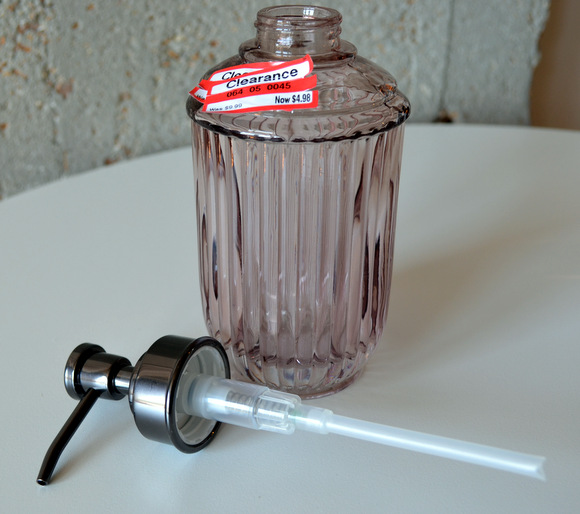 The pump from this Target soap dispenser will be perfect for our bourbon bottle soap dispenser project!