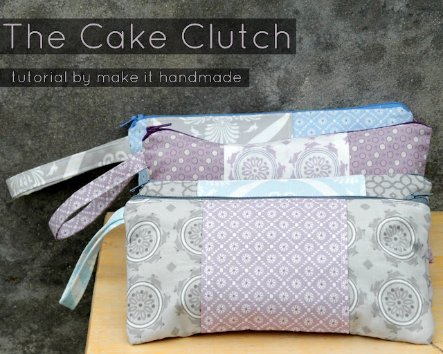 The Cake Clutch Pattern: Perfect for bridesmaids gifts, birthday party favors or baby shower thank you gifts. The best part is that after all fabric and notions, these clutches come out to be about 5 dollars each (if you make 10 or more). Tutorial by Make It Handmade