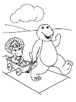 Barney The Dinosaurus Coloring Pages