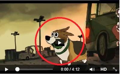 Un perro en busca de su amo en el apocalipsis zombi
