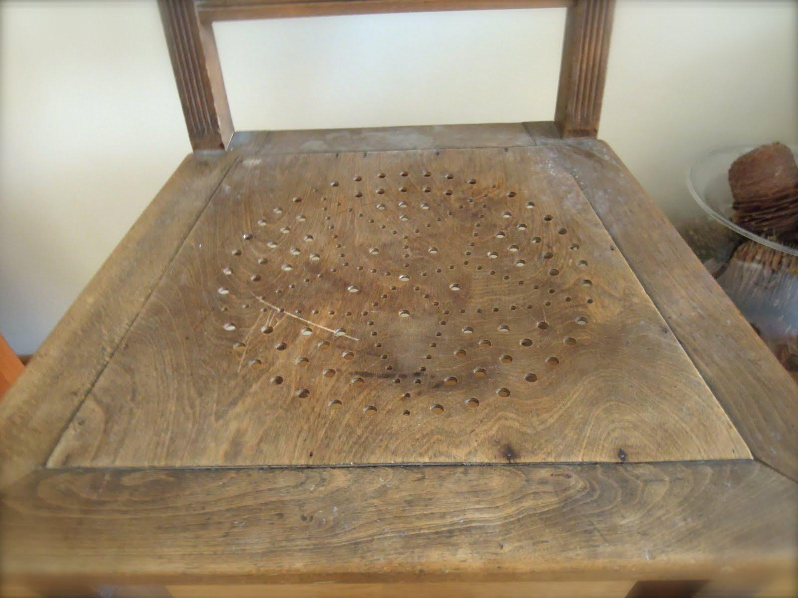 Con fresa y chocolate mi silla luterma - Carcoma en los muebles ...