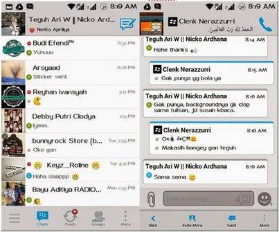 Download BBM Mod Grey Moment dan Simple Solution Versi 2.7.0.20