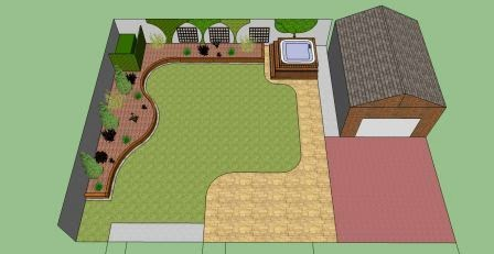 garden design birds eye view plan view - Garden Design Birds Eye View