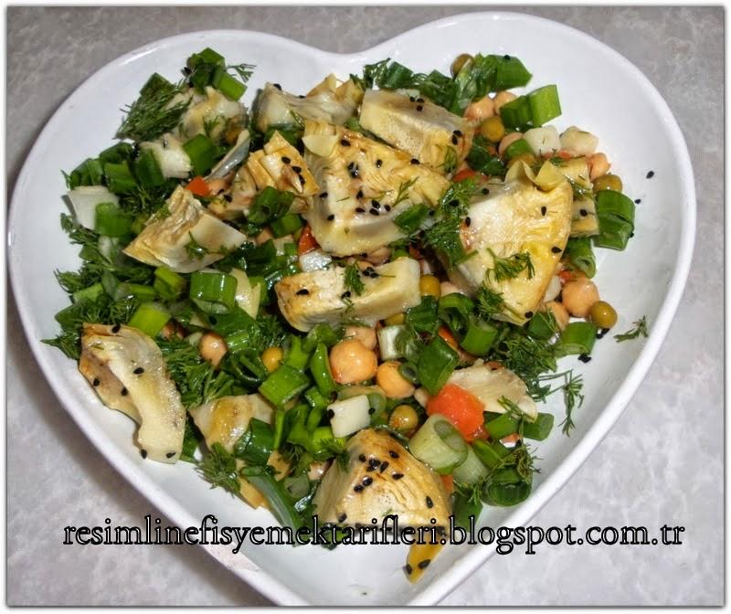 garnitürlü enginar salatası tarifi