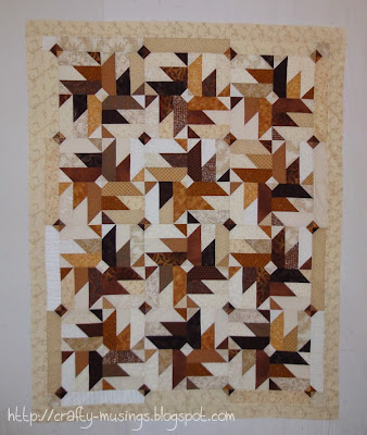my Heather Spence Designs Fall 2013 mystery quilt, awaiting final border