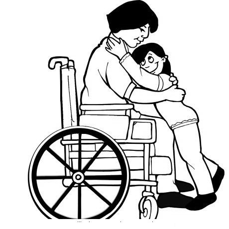 Dibujo silla de ruedas imagui for Silla para dibujar
