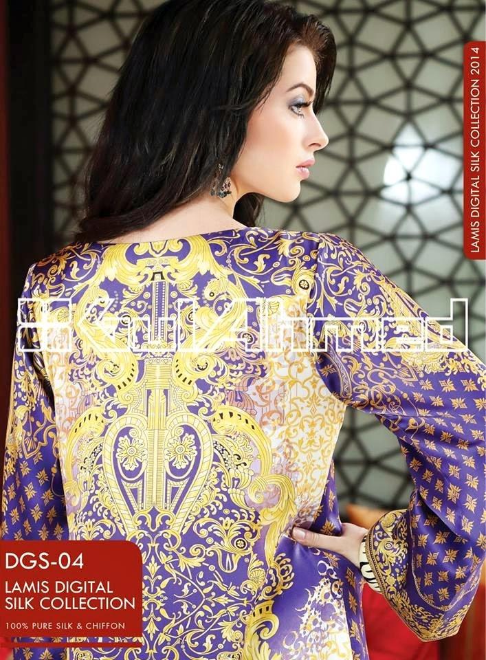 GulAhmedLamisDigitalSilkCollection2014 wwwfashionhuntworldblogspotcom 07 - Gul Ahmed Lamis Digital Silk Collection 2014