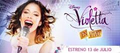 Participación en espectáculo musical VIOLETTA EN VIVO en Teatro Gran Rex! julio a septiembre 2013