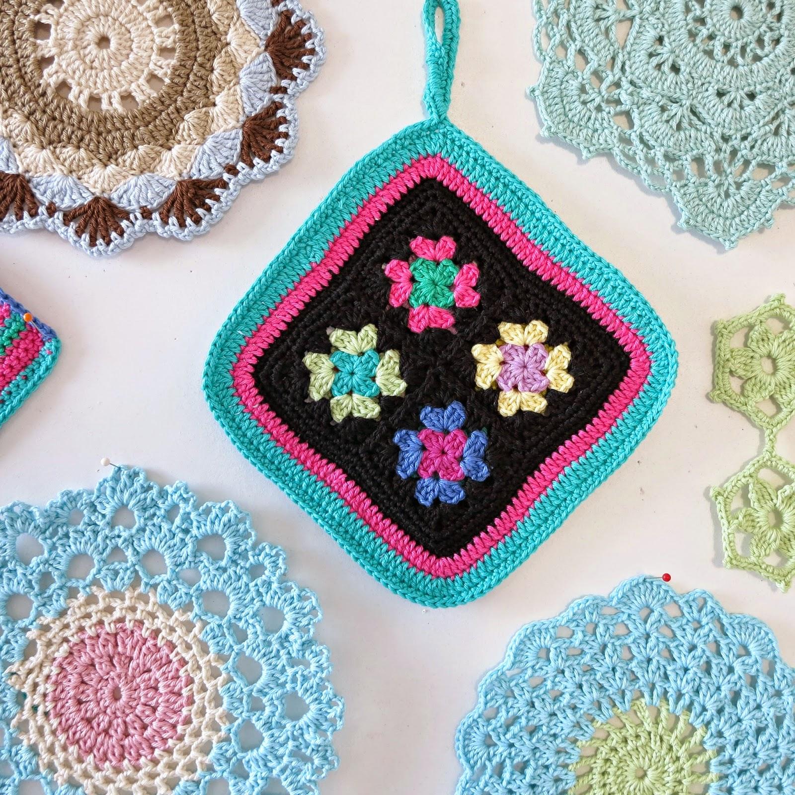 ByHaafner, crochet, potholder, doily, pastel, granny square