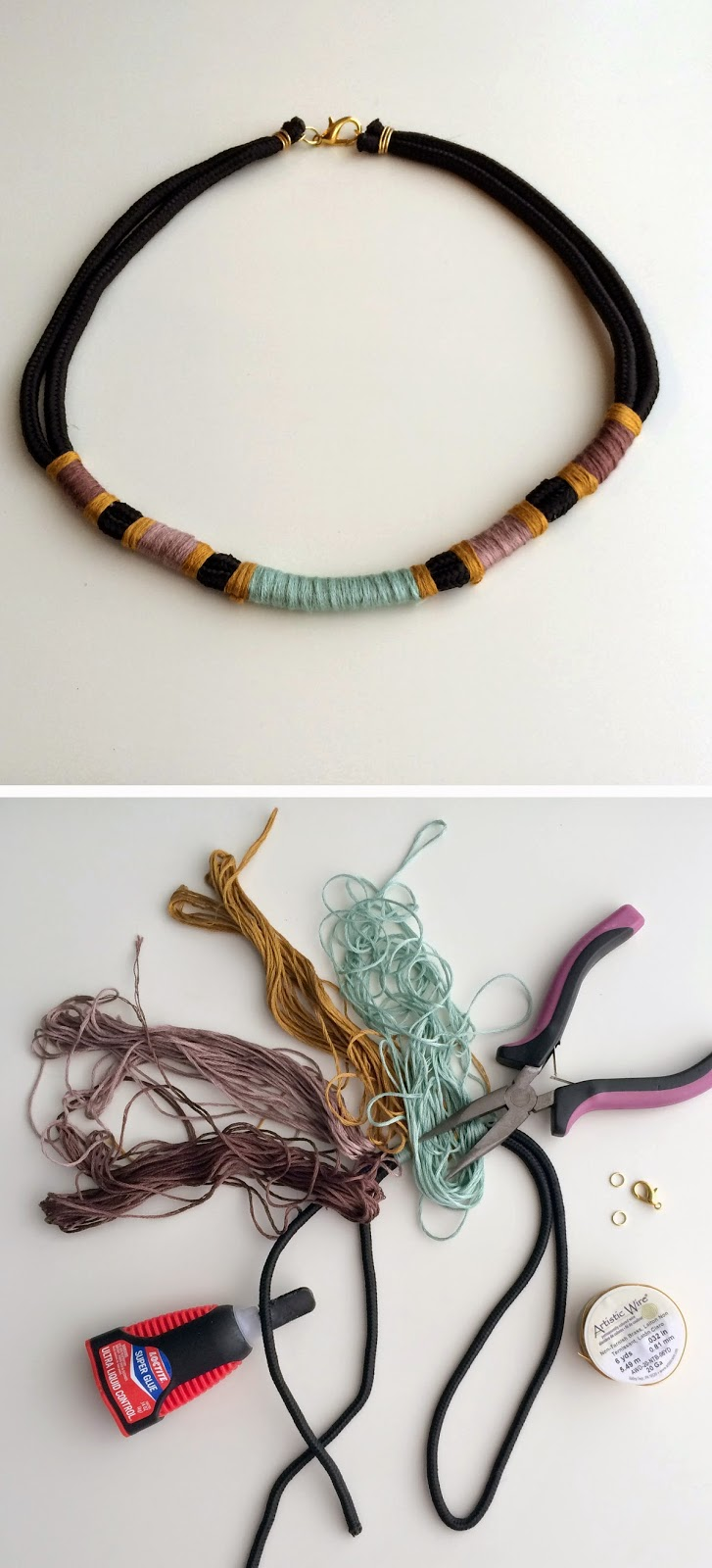 DIY wrapped paracord necklace tutorial