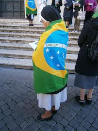 Torcida brasileira em Roma