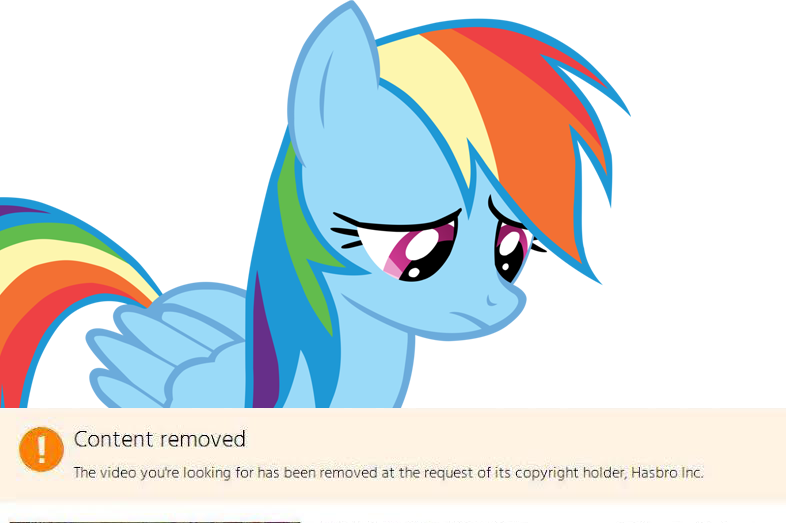 Rainbow Dash content removed