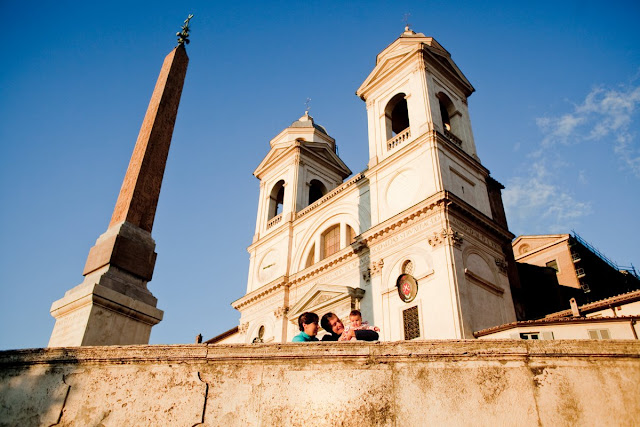 Trinita dei Monti, Dolce far niente, digital photography, fotografii de familie