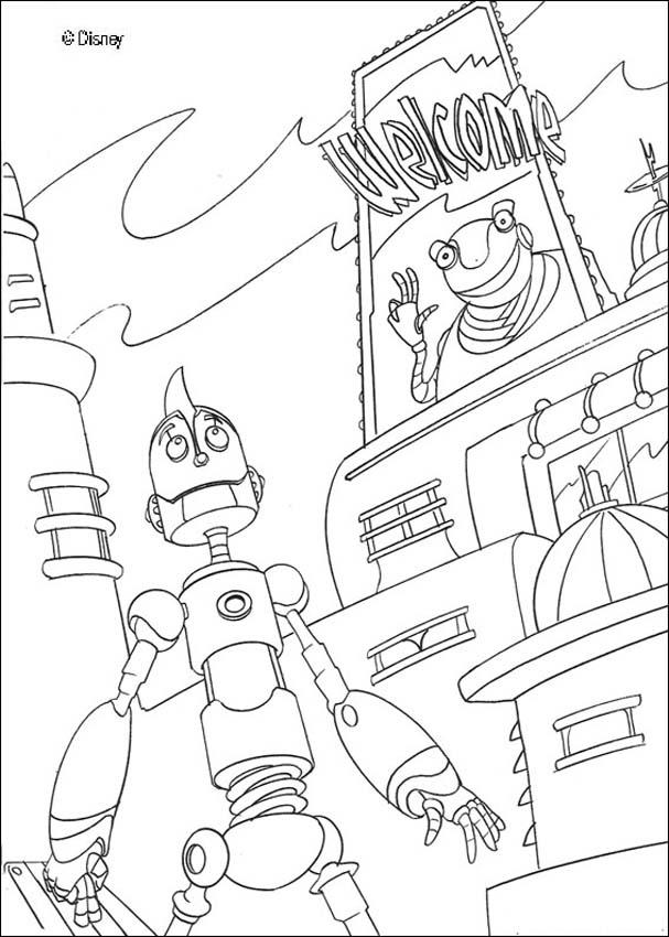 Robots Coloring Pages For Boys