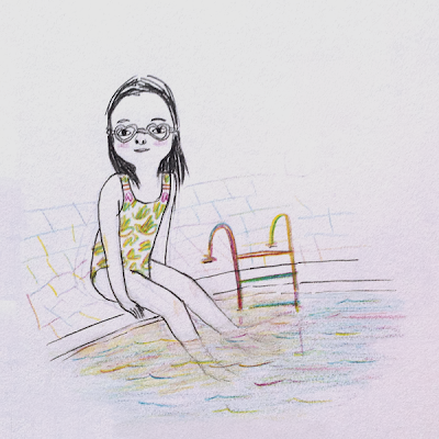 Love Swimming Illustration by Diana Toledano