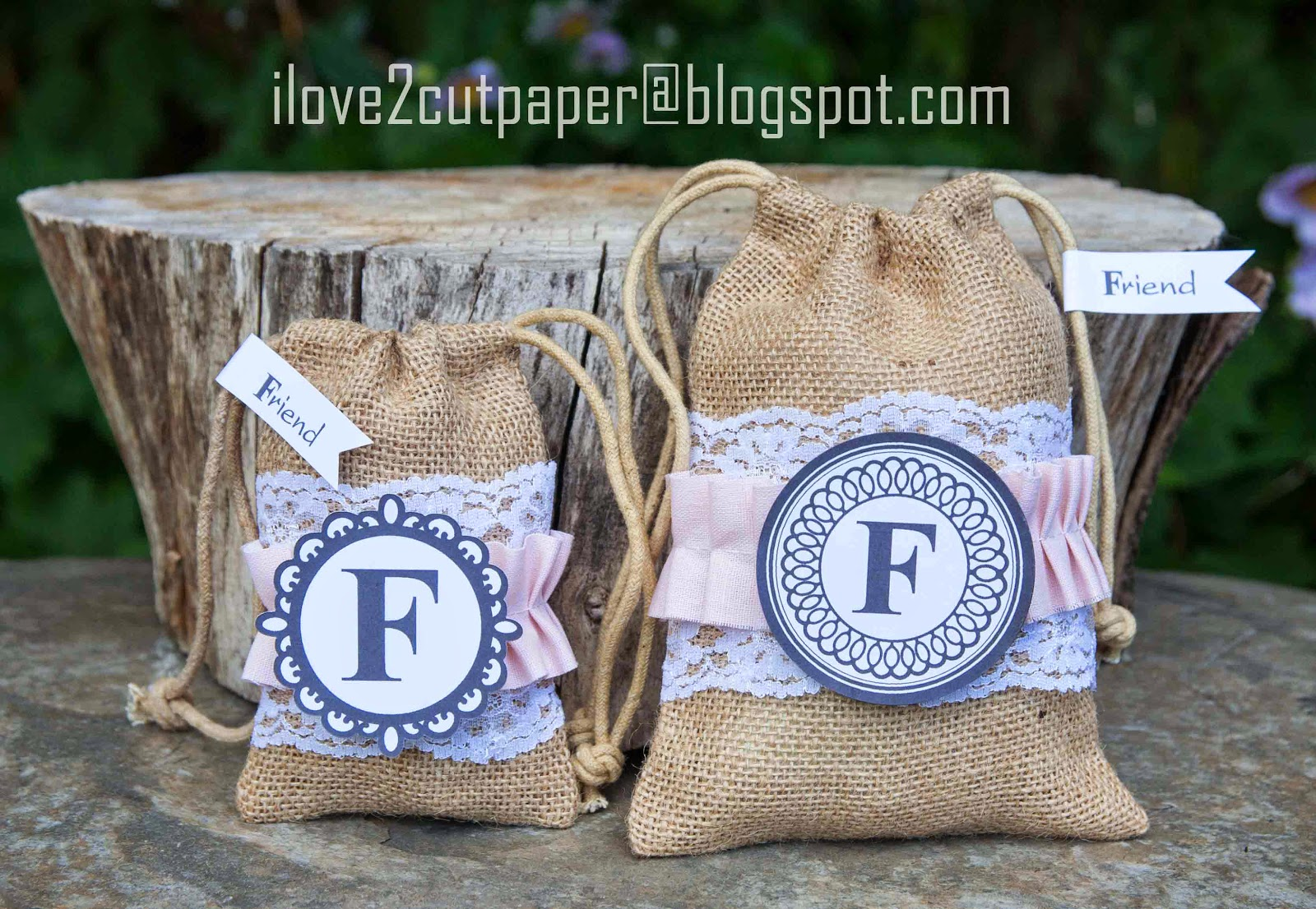 Monogram Toppers for Gift Bags
