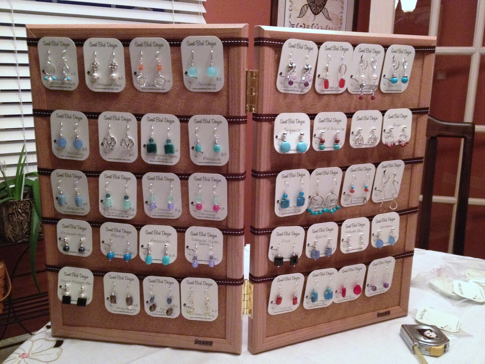 birdy chat diy craft show earring display