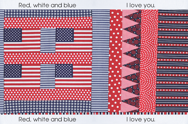 """Red, White and Blue"" by Debbie Clement at RainbowsWithinReach"