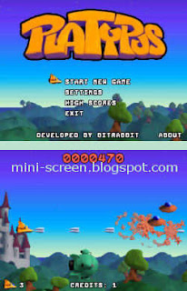 Platypus Arcade Shooter Game for Blackberry Interface