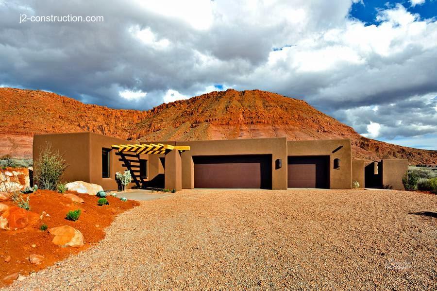 Casa de adobe en Utah, Estados Unidos