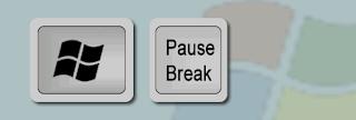 Atalho Win + Pause Break