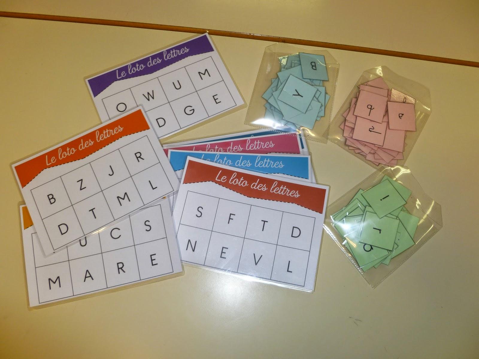 Bien-aimé La maternelle de Laurène: Le loto des lettres LI22