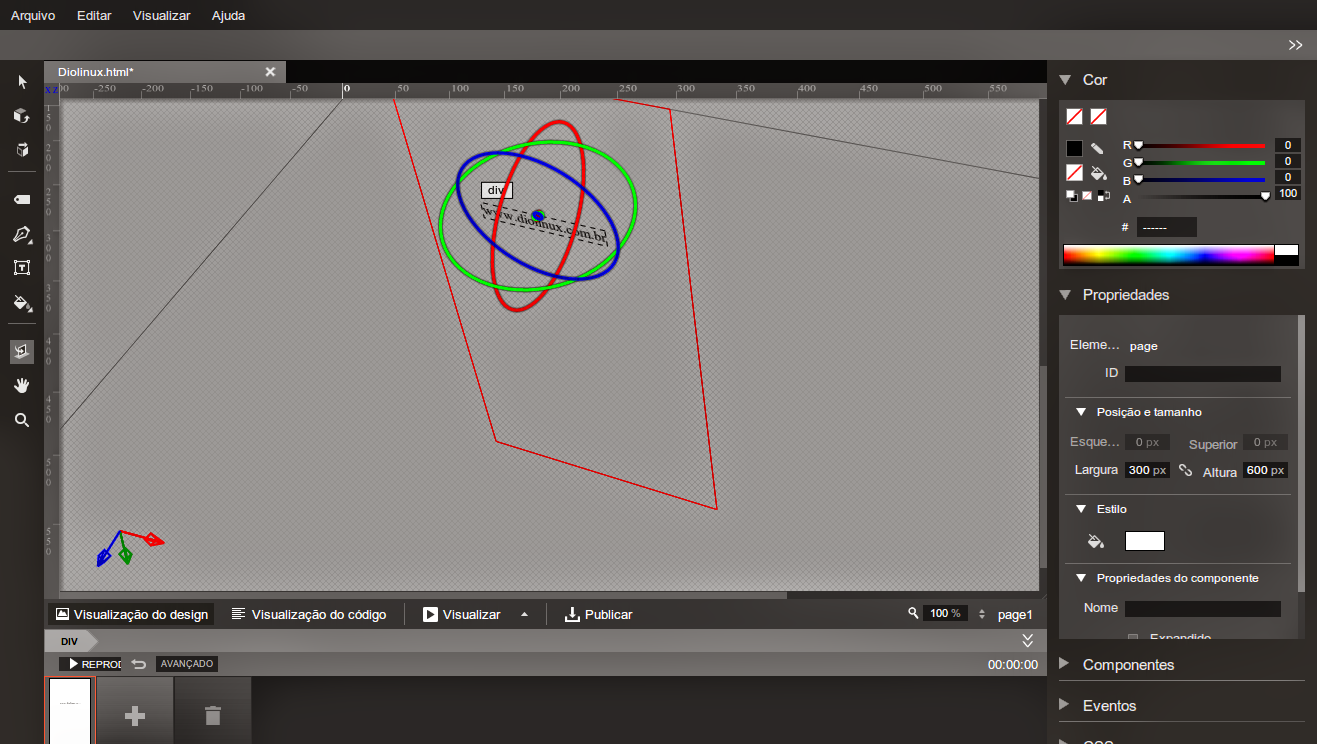 3D no Google Web Designer App