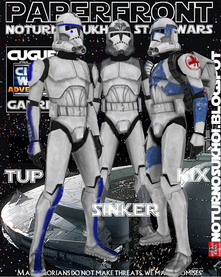 Clone Trooper Kix Papercraft