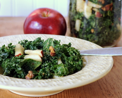 Kale Salad To-Go with Avocado & Apple