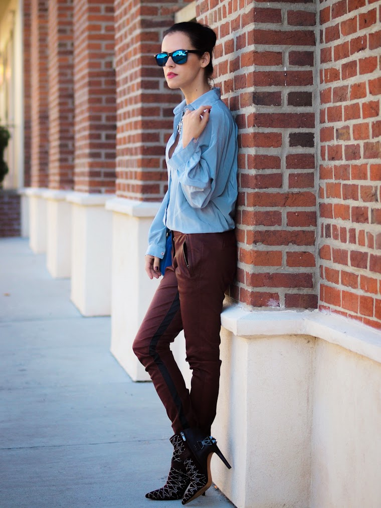 bittersweet colours, A.L.C leather pants, Burgundy, Sam Edelman, Cynthia Rowley, street style, fall 2013, Fall trends, leather pants, burgundy trend