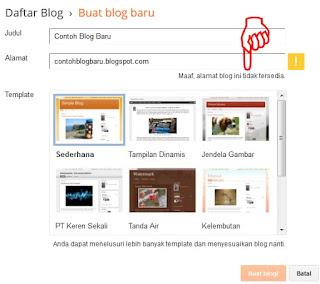 Mulai membuat blog baru