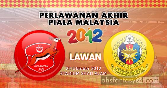 Keputusan Final Piala Malaysia 2012: Kelantan JUARA !