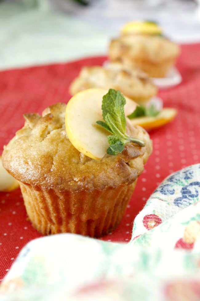 Enero. Muffins de manzana