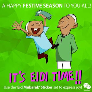 WeChat users can wish Eid Mubarak through Animated 'Eid' Stickers on WeChat