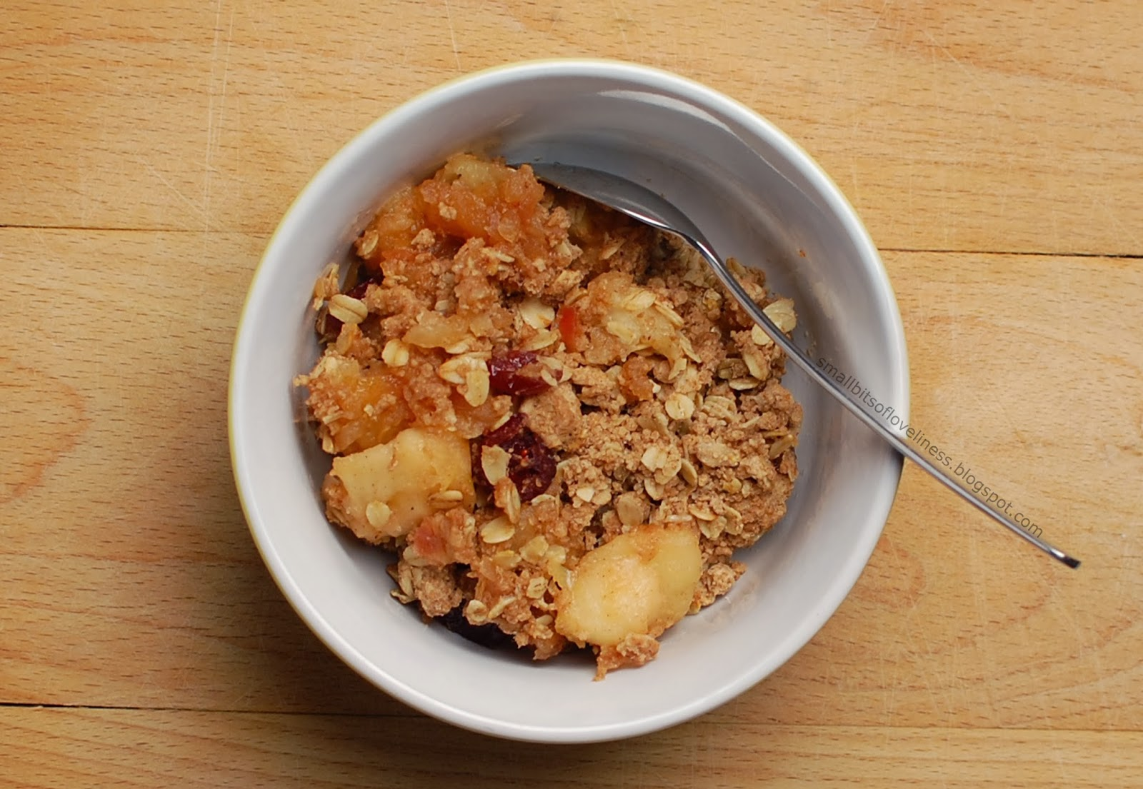 Apple Crnaberry Crumble