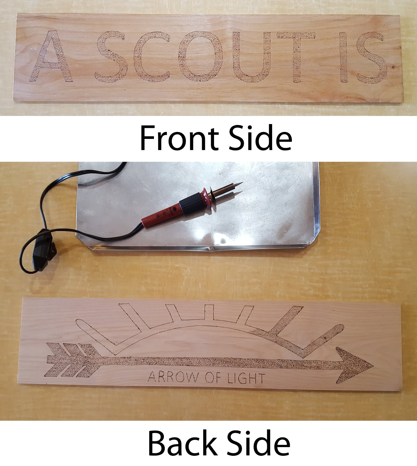 San tan district cub scout roundtable february 2018 24 first wood burn the outline and then you can fill in the letter with whatever design you want buycottarizona Choice Image