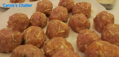 Chicken Polpette before cooking