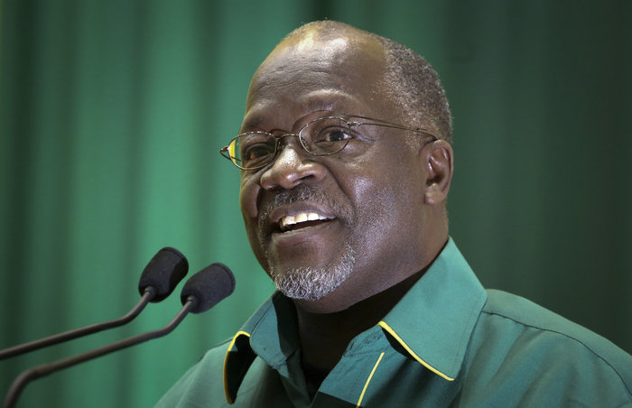 John Pombe Magufuli in July of 2015. Khalfan Said/AP