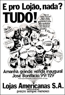 Lojas Americanas, propaganda anos 70; história da década de 70; Brazil in the 70s; reclame anos 70, Oswaldo Hernandez,