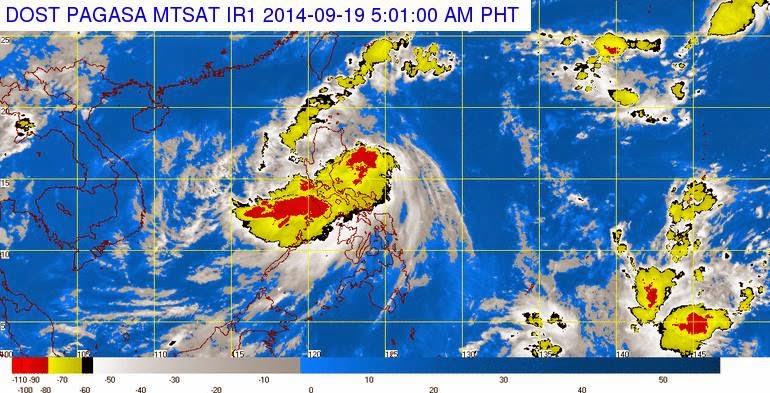 Typhoon Mario PAGASA forecast September 19, 2014