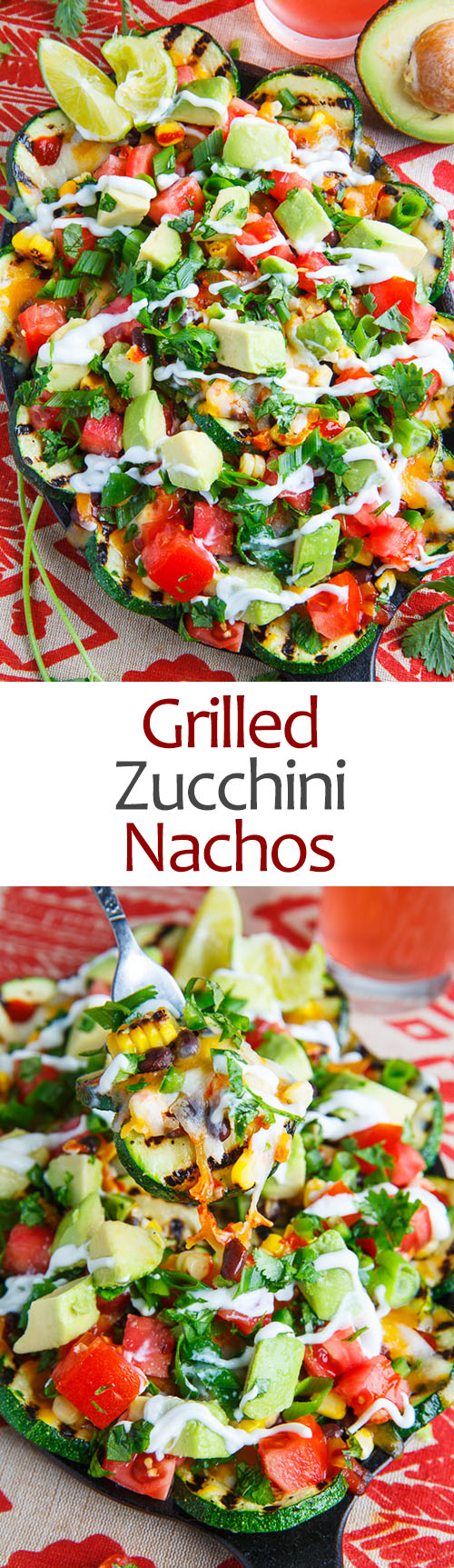 Grilled Zucchini Nachos on Closet Cooking