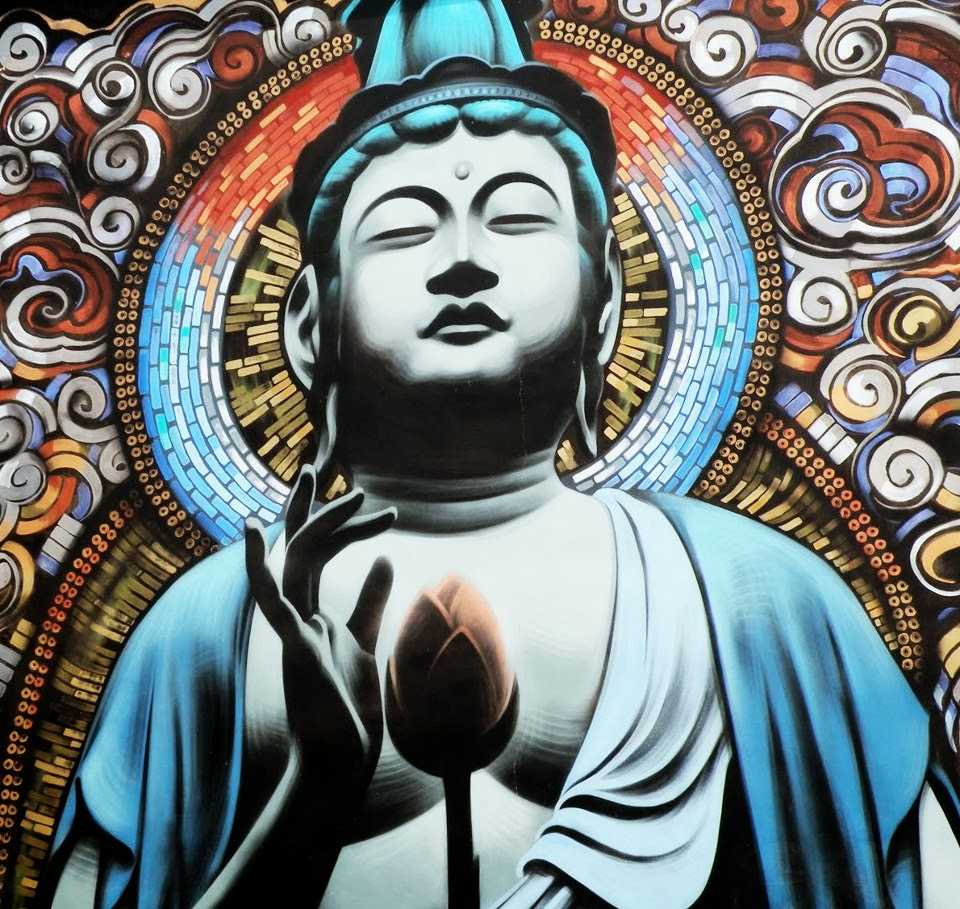 Stained Glass Buddha