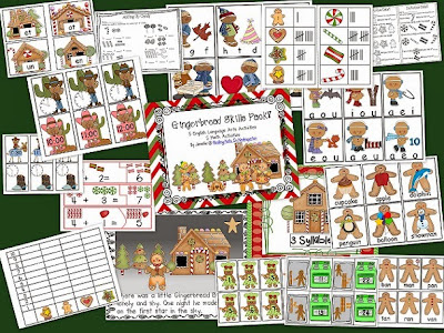 http://www.teacherspayteachers.com/Product/Gingerbread-Skills-Pack-Math-and-Language-Arts-Activities-172917