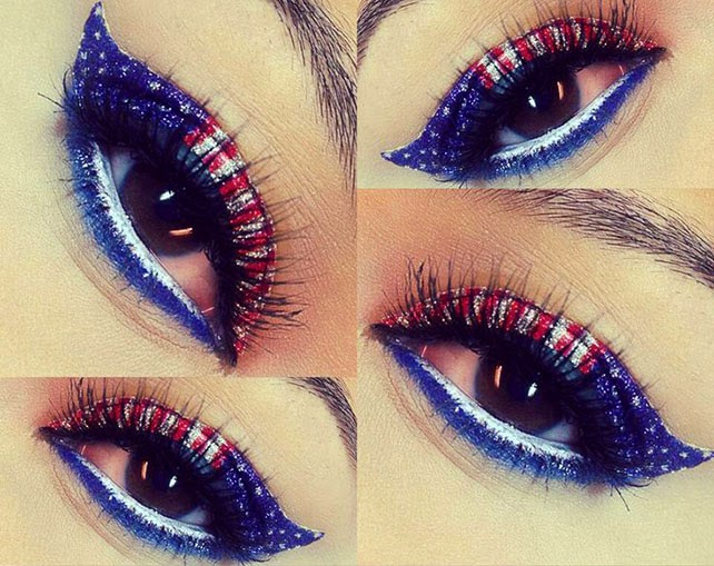 4th of july eye makeup