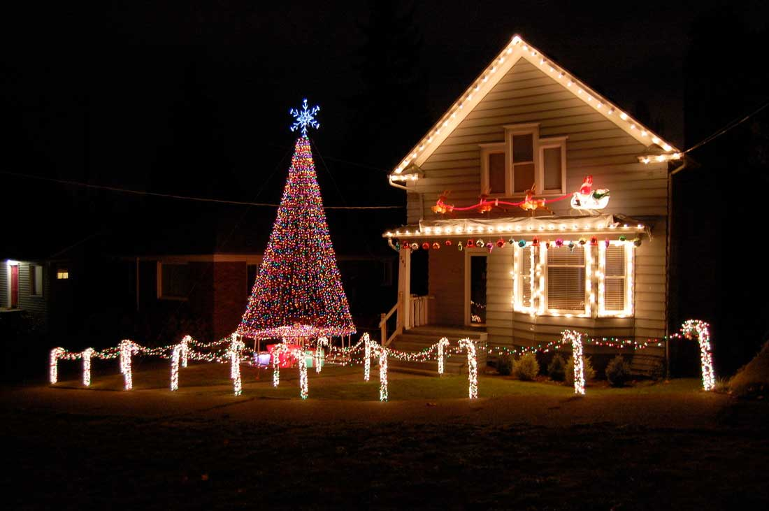 Outdoor House Decorations For Christmas : Festivals pictures christmas lights house